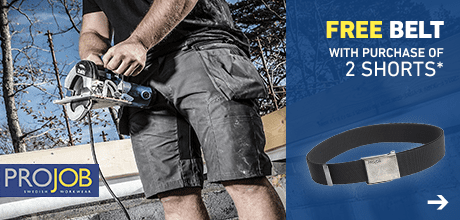 Free belt with purchase of 2 shorts