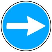 Autocollant panneau d'obligation