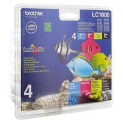 Pack cartridges Brother LC1000 zwart - cyaan - magenta - geel
