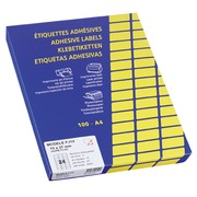 Box, 2400 fluo rectangular labels 70 x 37 mm - yellow