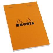Bloc de bureau Rhodia 10,5 x 14,8 cm agrafé orange n°13 - 5 x 5 - 80 pages