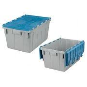 Grey transport box with blue cover, 50l
