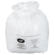 Box of 500 plastic bags, 20 litres, white