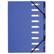 Gerecycleerde sorteermappen Forever 9 onderverdelingen - blauw