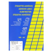 Box 100 fluorescent labels, rectangular, 210 x 297 mm, yellow