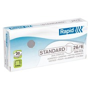 Box of 5000 staples Rapid 26/6 galvanized
