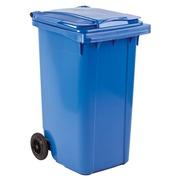 Gefärbte Container 2 Räder 240 Liter blau