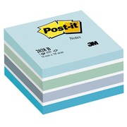 Kubusblok Post-it aquarel groen 76 x 76 mm - blok van 450 vellen