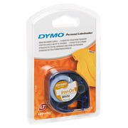 Textile tape thermo-adhesive Dymo Letratag 12 mm S0718850 white with black text
