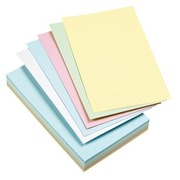 Assortment colored index cards 125 x 200 mm checked 5 x 5 - Box of 100