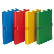 Classic expandable folders without flap, assorted colours