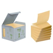 Block Post-it Z-notes, yellow, 76 x 76 mm, recycled paper