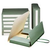 Pochette archives carton à élastique Extendos dos 7 cm verte