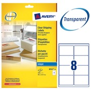 Package of 200 address labels Avery J 8565 99,1 x 67,7 mm for inkjet printer