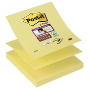 Z-Notes Super Sticky Post-it 76x76 mm jaune - bloc de 90 feuilles
