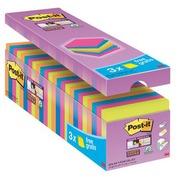 Paket 21 + 3 gefärbte Notes Super Sticky Post-It 76 x 76 mm