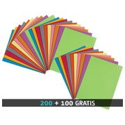 200 chemises 210 g Bruneau 24 x 32 cm couleurs assorties + 100 offertes