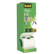 Pack de 7 + 1 rubans adhésif Scotch Magic invisible - Longueur 33 m