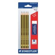 Packung 5 HB Bleistifte + 1 gratis Radiergummi Staedtler Noris