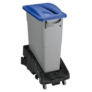 Trash can, selective sorting, 60 liters, gray