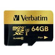 Verbatim PRO+ - flashgeheugenkaart - 64 GB - microSDXC UHS-I