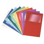 Chemises coin papier avec fenêtre FOREVER A4 dossier 120 g couleurs assorties - Paquet de 100