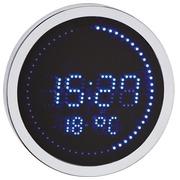 Runde LED Uhr Aluminium - Quarz