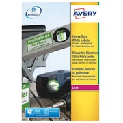 Etiquette ultra résistante laser 99.1 x 139 mm Avery L4774-20 blanche - Pochette de 80