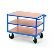 Trolley for workshop 3 wooden trays - capacity 500 kg