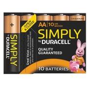 Blister 10 alkalinebatterijen LR06 Duracell Simply