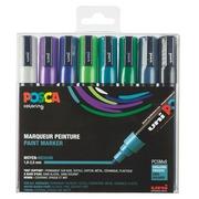 Marqueur Posca couleurs froides assorties pointe conique 1,8 à 2,5 mm - Boîte de 8