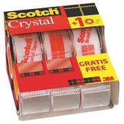 Paket von 2 + 1 Verteiler Scotch Crystal Klebeband