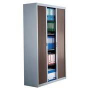 Dismountable tambour cabinet, 200 x 100 cm, aluminium