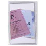 Sachet de 10 étuis de protection multi-cartes 4 volets PVC lisse 20/100e.