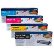 Brother TN241 Pack 4 toners 1 noir + 3 couleurs pour imprimante laser