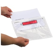 Self-adhesive document holder