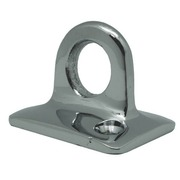 Chrome wall bracket for rope