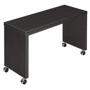 Mobile side table Shiny W 100 x D 40 cm plate ebony black base full wood
