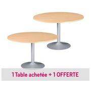 Pack ronde tafel Bruneau Excellens eik 1 + 1 gratis