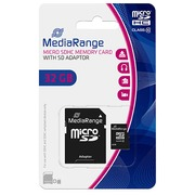 Memorycard micro SDHC with adaptator 32 Gb - class 10