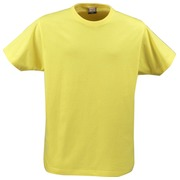 Printer heavy t-shirt RSX Geel XS