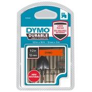 Dymo D1 Durable linten 12 mm oranje  inktkleur zwart