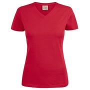 Printer Heavy V Lady t-shirt Red XS