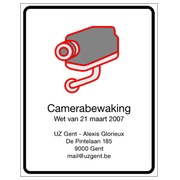 PICTOGRAM CAMERABEWAKING 21X 29,7 CM