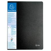Protège-documents en polypropylène rigide avec porte étiquette 3 faces Up Line Opaque 80 vues - A4. (88401E)