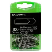 Box of 100 paper clips 30mm