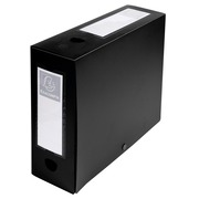 Filing Box with Press Stud Closure 100mm Spine PP Opaque A4 - Black