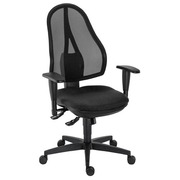 Office chair with adaptable armrests 3D synchronous Holly black
