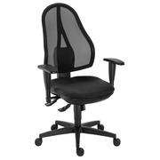 Bureaustoel met aanpasbare armleuningen 3D synchroon Holly zwart