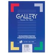 Gallery witte etiketten ft 105 x 148,5 mm (b x h), rechte hoeken, doos van 400 etiketten